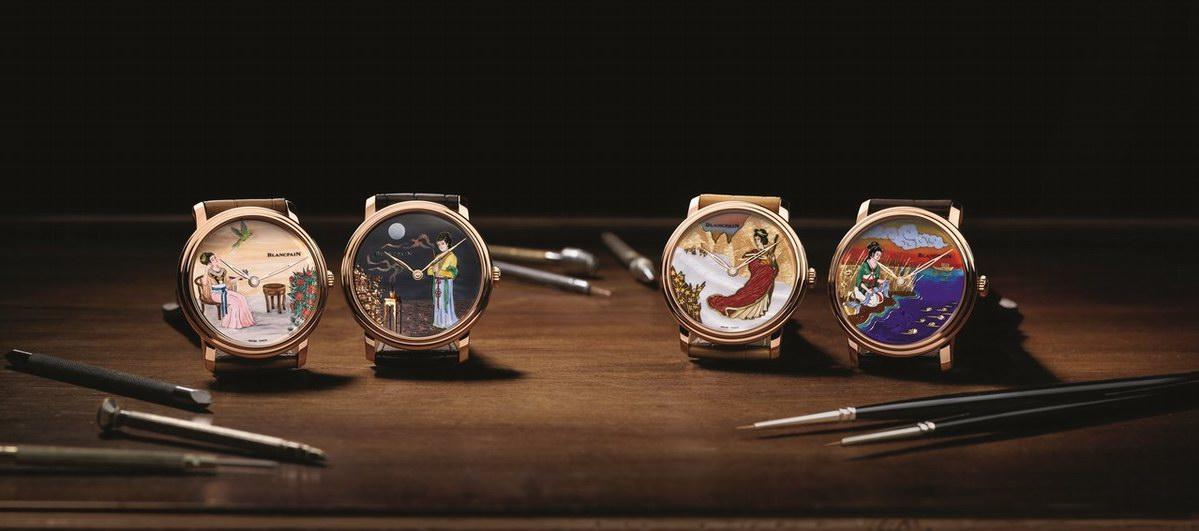 """宝珀Blancpain艺术大师工作室年度巨献""""四大美人""""高级定制腕表"""